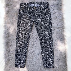 7FAM Floral Printed Skinny Ankle